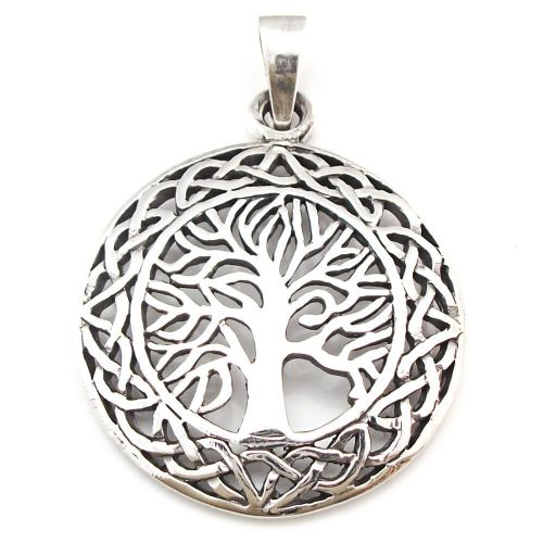 Yggdrasil Tree of Life Sterling Silver Pendant (P012)